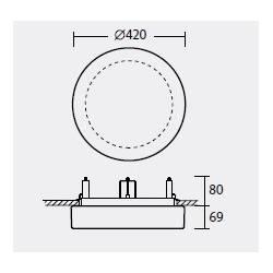 Plafon ELSA V4 opalowy matowy - śr. 420 mm