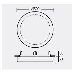Plafon ELSA V5 opalowy matowy - śr. 500 mm
