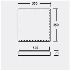 Plafon TILIA 3 - dł. 550 mm