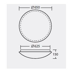 Plafon TITAN 4 - śr. 650 mm