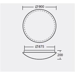 Plafon TITAN 5 - śr. 900 mm