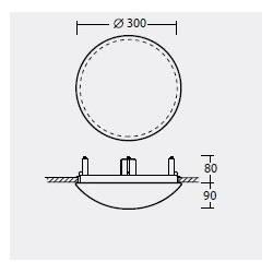 Plafon TITAN V1 - śr. 300 mm