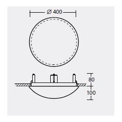 Plafon TITAN V2 - śr. 400 mm