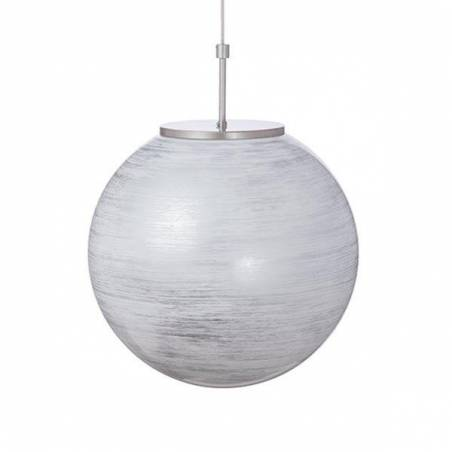 Lampa 4500 opalowa, zdobiona spiralą - śr. 400/150 mm