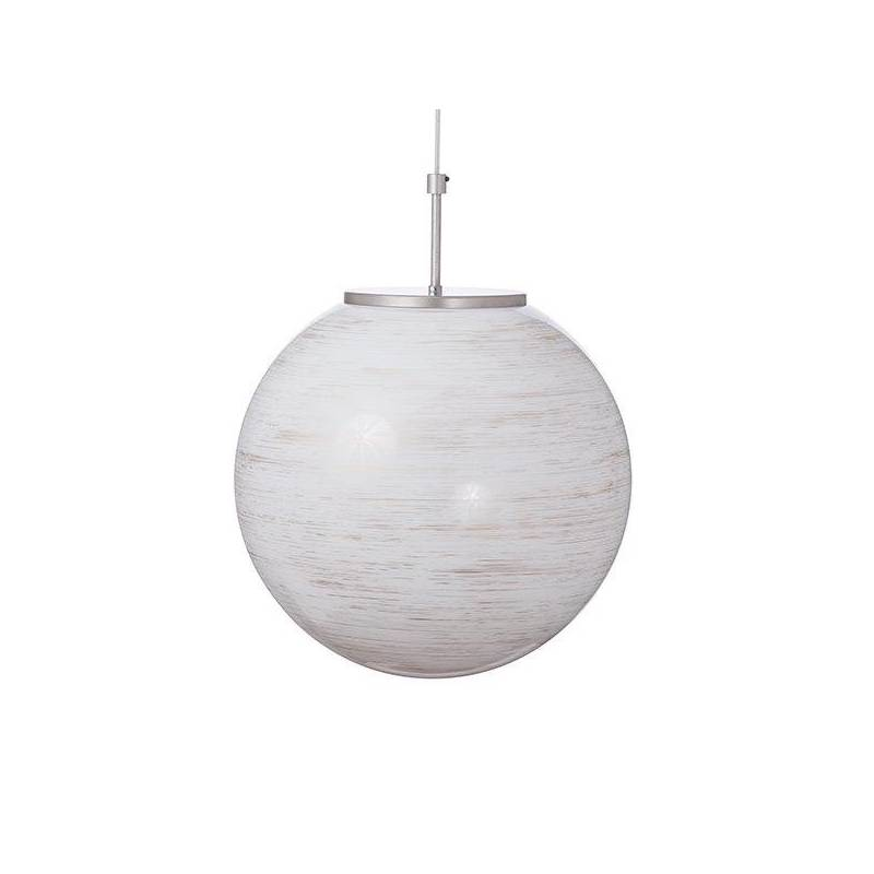 Opal glass lampshade 4500 with decor - d. 400/150 mm