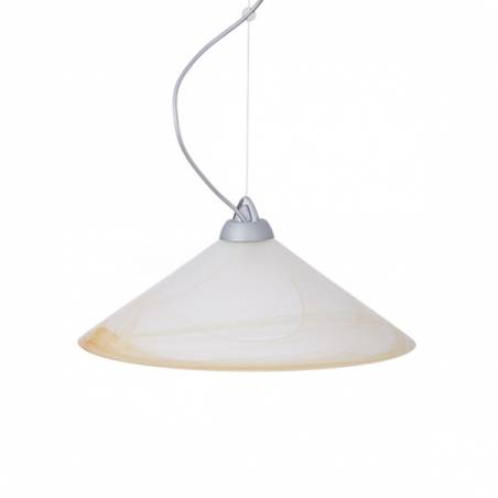 Cristal glass matte lampshade 1110 with alabaster - d. 420/45 mm