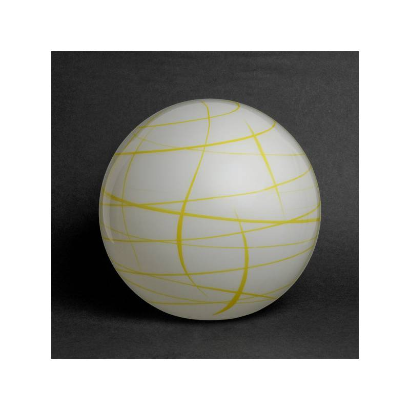 Opal painted lamp 4039 with decor - d. 300/100 mm