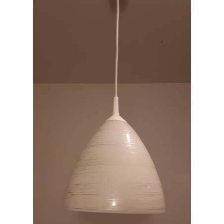 Lampa 4360 opalowa, zdobiona - śr. 230/42 mm