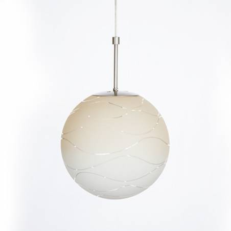 Cristal glass pained lampshade 4039 with decor - d. 300/100 mm