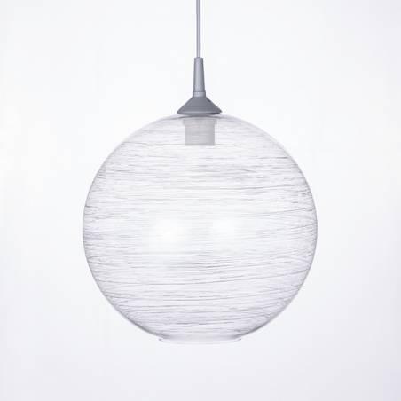 Lampa 4057 jasna zdobiona spiralą  - śr. 300/45 mm