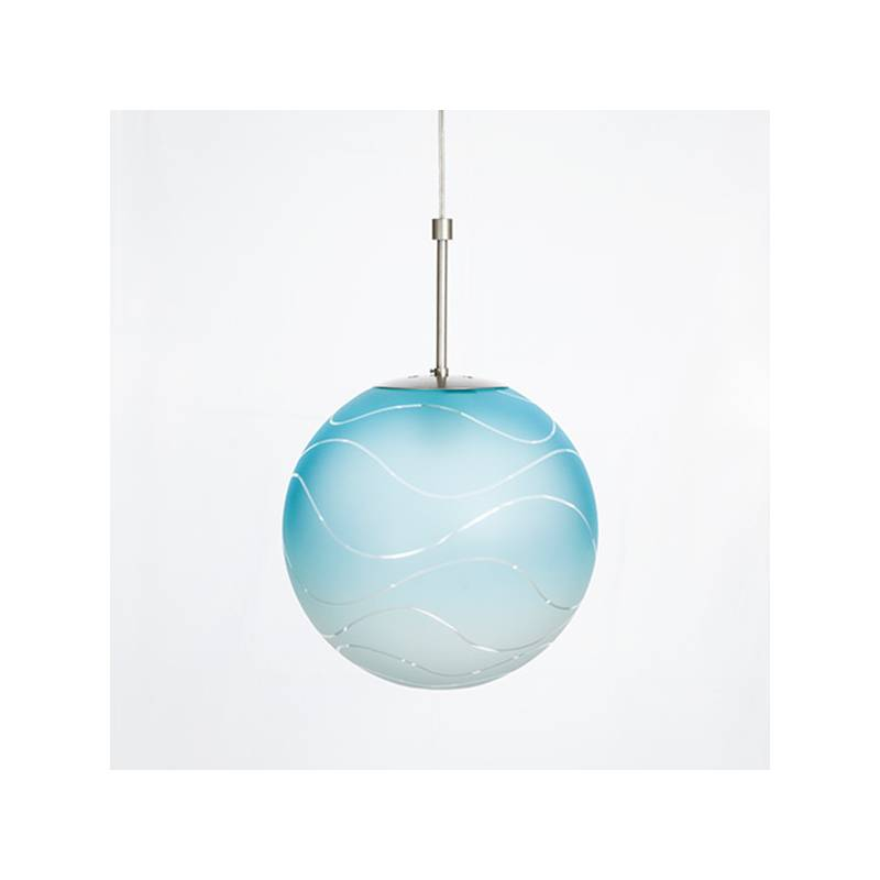 Cristal glass painted lamp 4048 with decor - d. 350/100 mm