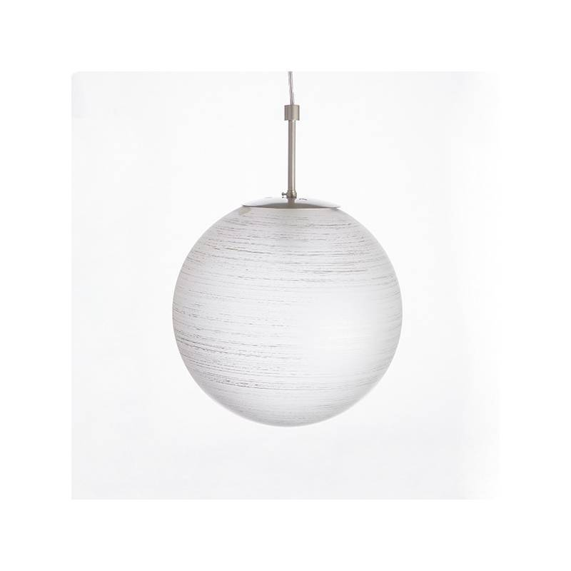 Cristal glass painted lampshade 4048 with decor - d. 350/100 mm