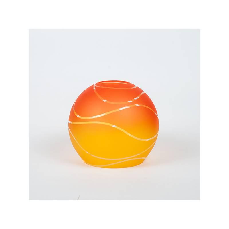 Klosz 4051 jasny malowany farbą zdobiony - śr. 160/45 mm