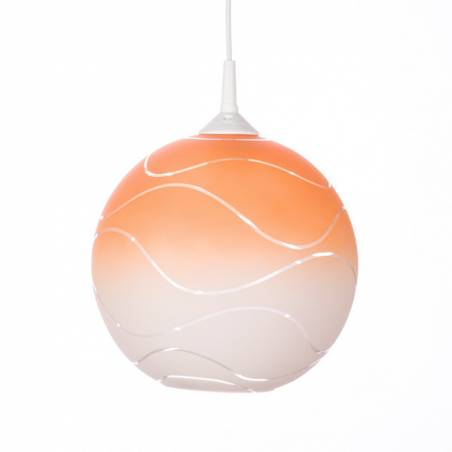 Cristal glass painted lamp 4054 with decor - waves