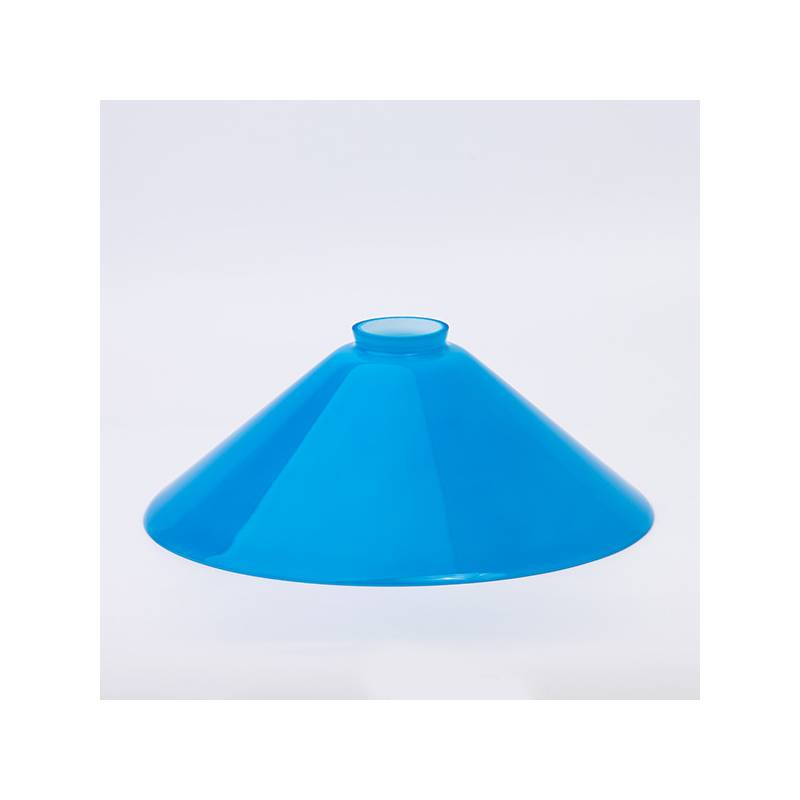 Opal glass painted lampshade 347 - d. 300 mm