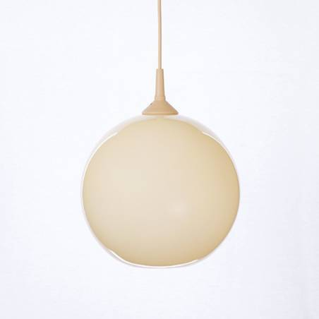 Opal/cristal glass painted lampshade 4054 - d. 250/42 mm