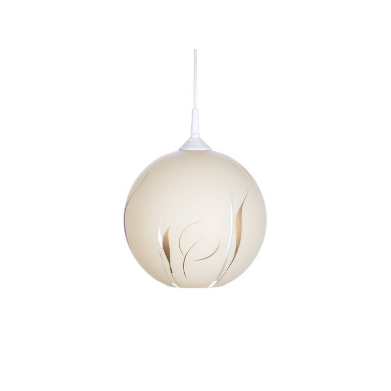Cristal glass painted lamp 4054 with decor - d. 250/42 mm