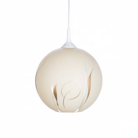 Cristal glass painted lamp 4054 with decor - d. 250/45 mm