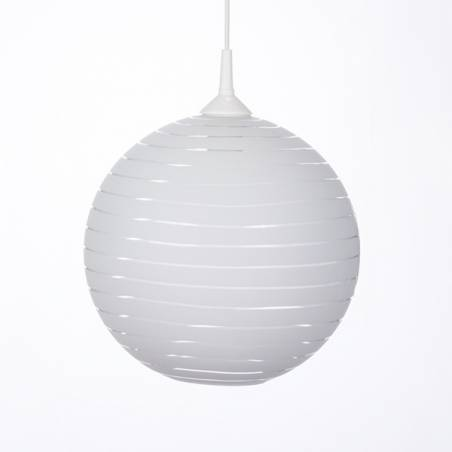 Cristal glass pained lampshade 4054 with decor - d. 250/42 mm
