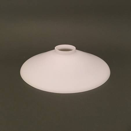 Opal matte lampshade 0653 with collar - d. 250/45mm