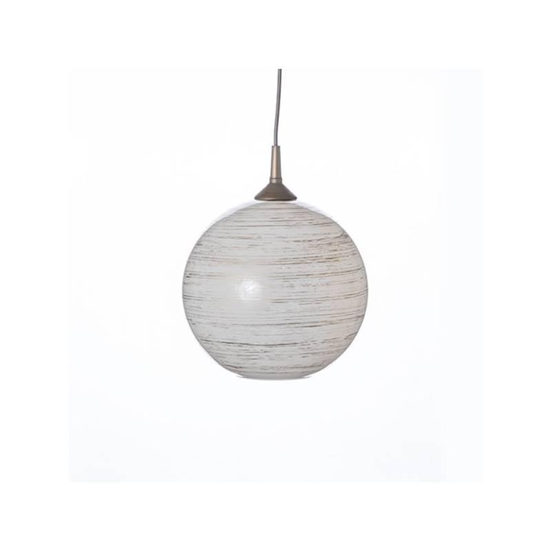 Klosz 4054 opalowy/jasny malowany farbą zdobiony spiralą - śr. 250/42 mm