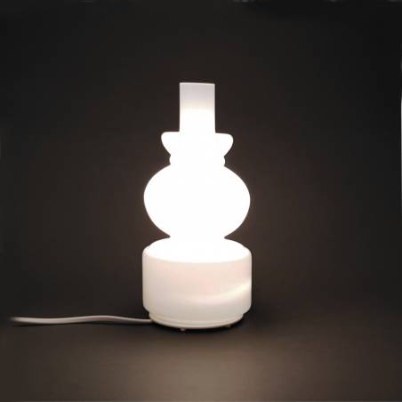 Opal glass table lamp 5602 - h. 227 mm