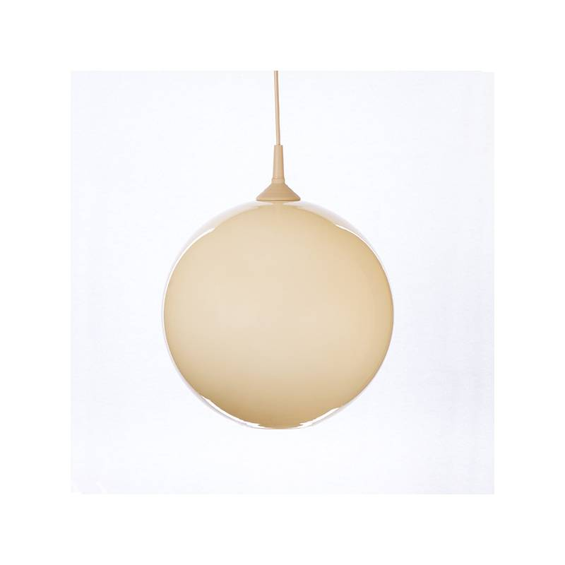 Opal/cristal glass painted lampshade 4057 - d. 300/42 mm
