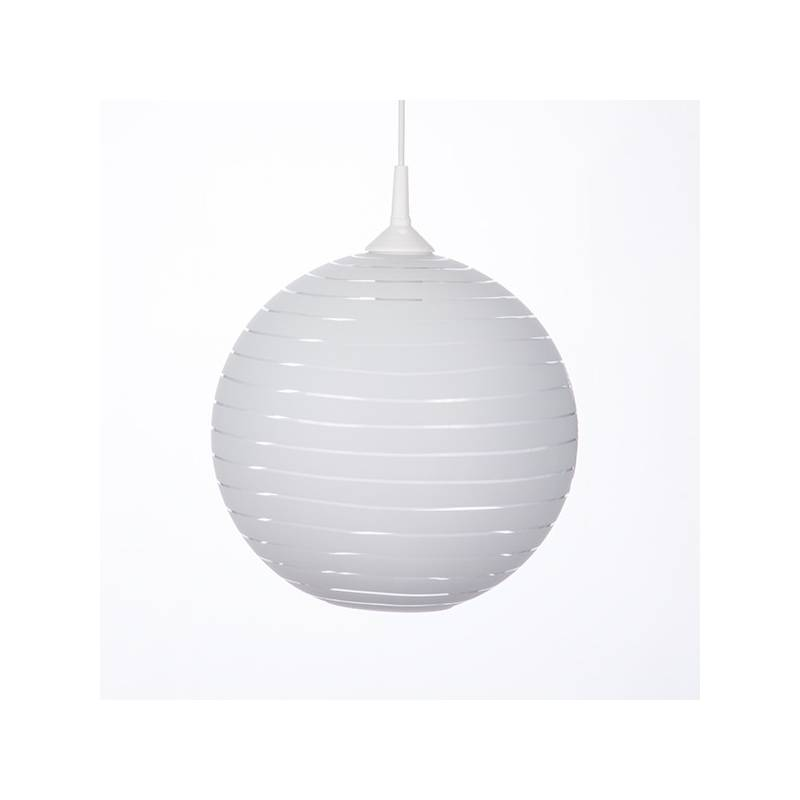 Cristal glass pained lampshade 4057 with decor - d. 300/42 mm
