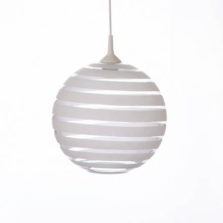 Cristal glass painted lamp 4057 with decor - d. 300/42 mm