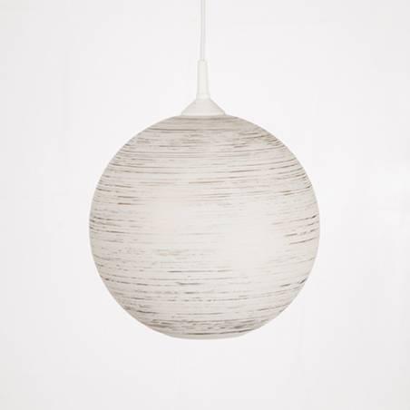 Klosz 4057 opalowy/jasny malowany farbą zdobiony spiralą - śr. 300/42 mm