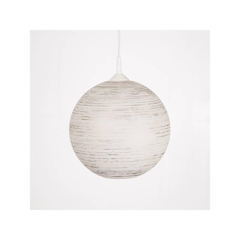 Lampa 4057 opalowa/jasna malowana farbą zdobiona spiralą - śr. 300/42 mm