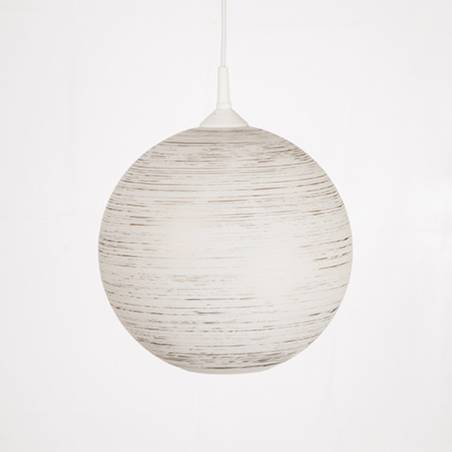 Opal/cristal glass painted lamp 4057 with decor - d. 300/42 mm