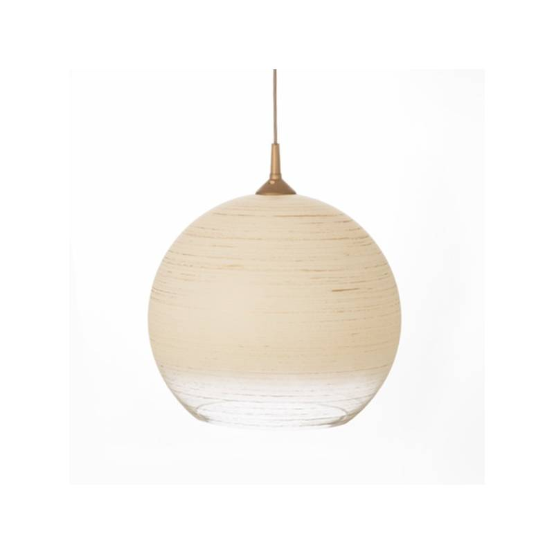 Cristal glass painted lampshade 4067 with decor - d. 350/45 mm