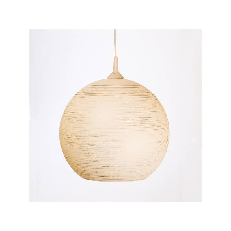 Cristal glass painted lamp 4067 with decor - d. 350/45 mm