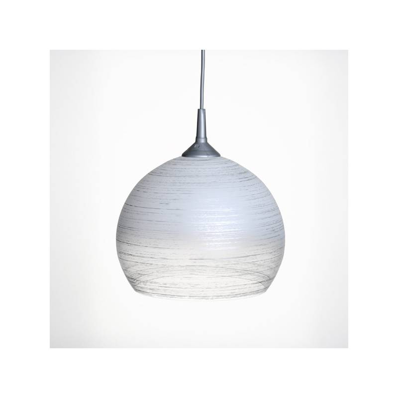 Cristal glass painted lamp 4070 with decor - d. 250/45 mm