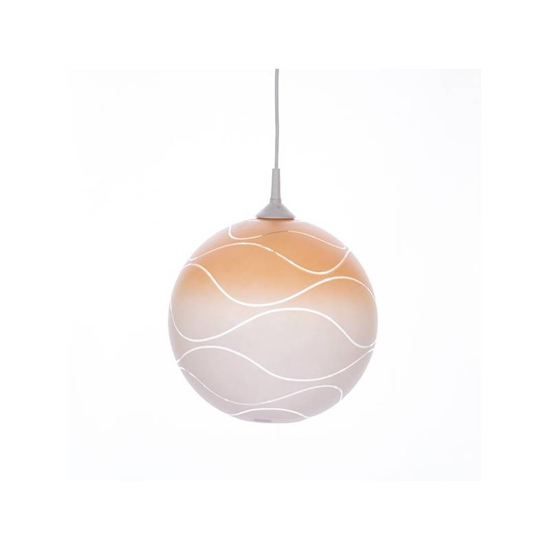 Cristal glass painted lamp 4057 with decor - waves